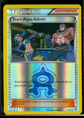 Pokemon TEAM AQUA ADMIN 25/34 - Double Crisis Rev Holo - MINT!
