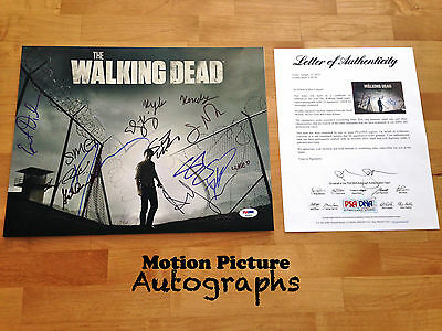 The Walking Dead Cast 14 Signed 11x14 Photo Psa Coa Andrew Lincoln Norman Reedus