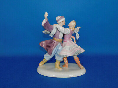 Herend Dancing Couple In Folklore Dress Figurine Porcelain