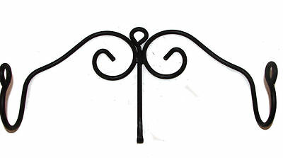 Black Wrought Iron Rolling Pin Holder Display Rack Usa Made Scroll Farmhouse