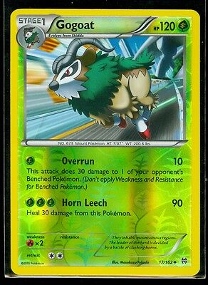 Pokemon GOGOAT 17/162 - XY BREAKthrough - Rev Holo - MINT