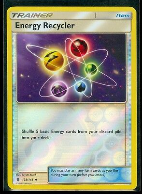 Pokemon ENERGY RECYCLER 123/145 - Guardians Rising Rev Holo - MINT