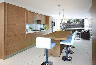 *7 Ft Kitchen Island Bamboo Stained With White Carrara Quartz Top*