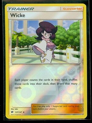 Pokemon WICKE 127/147 - Burning Shadows - Rev Holo - MINT