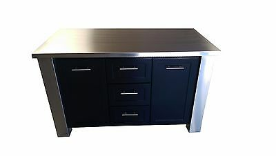 **5 Ft Kitchen Island, Stainless Steel Top & Base Frame (custom), Made In Usa**