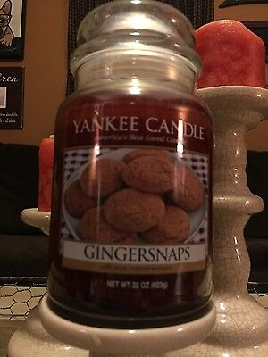 "Yankee Candle ""gingersnaps"" 22oz Large Jar Extremely Rare Only One On Ebay!"