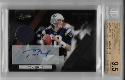 2011 tom brady absolute memorabilia auto bgs 9.5 w/all 9.5 and 10 subs... #4/5