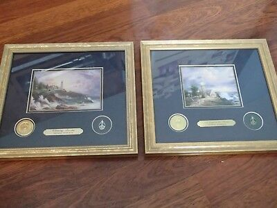Thomas Kincade Collector Series 1998,1999 Matted & Framed, A.o.c.