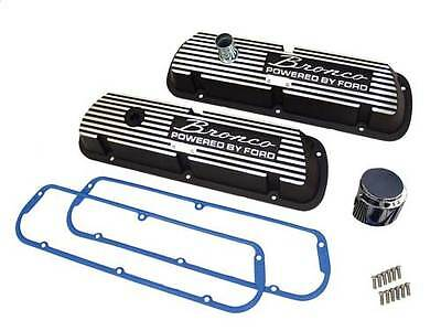 Small Block Ford 289/302/351w Engine Black Valve Covers W/ Cork Gasket Free Ship