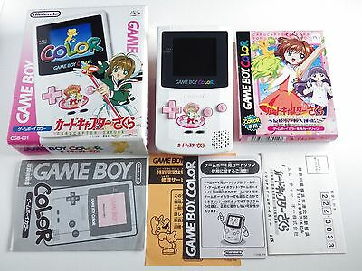 Original Nintendo Gameboy Color Console Cardcaptor Sakura Limited Model Boxed