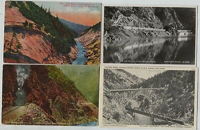 2 1910 , 1942 & 1 Rppc Western Pacific Railroad Feather River Canyon California