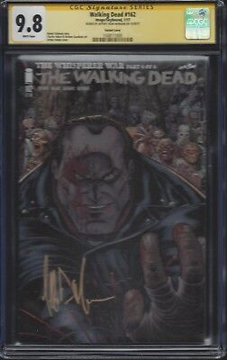 Walking Dead #162 Negan Variant Cover__cgc 9.8 Ss__signed By Jeffrey Dean Morgan