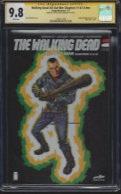 Walking Dead: All Out War Chapters 11 & 12_cgc 9.8 Ss_signed Jeffrey Dean Morgan