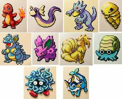 Pokemon Firered Leafgreen Mini Bead Sprites Perler Hama Artkal Pixel Art Retro