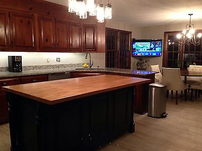 """**72"""" Kitchen Island, Wood Top And Custom Color, Made In Usa**"""