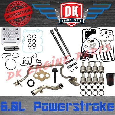 6.0l Powerstroke Oil Cooler Stc Stand Pipes Turbo Feed Drain Oil Rail Tubes Tool