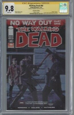 "Walking Dead #80 Photo Cover_cgc 9.8 Ss_signed Andrew Lincoln ""rick"" Rare"
