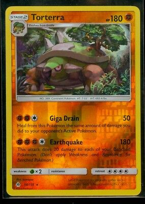 Pokemon TORTERRA 58/131 - Forbidden Light - RARE Rev Holo - MINT
