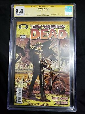 Walking Dead 1 (image) 2003 1st First Printing Cgc 9.4 Ss Signed Robert Kirkman