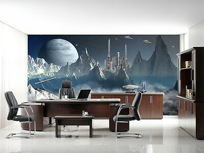 3d Ufo Alien World 45 Wall Paper Wall Print Decal Wall Deco Indoor Mural Lemon