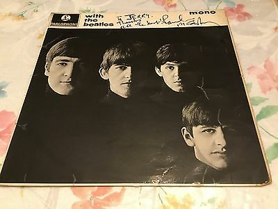 paul mccartney signed and inscribed  the beatles parlophone mono pmc 1206