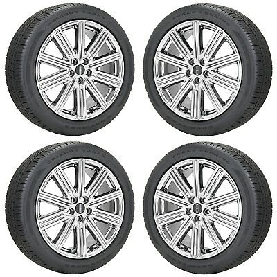 """19"""" Lincoln Continental Pvd Chrome Wheels Rims Tires Factory Oem 2018 2019 10088"""