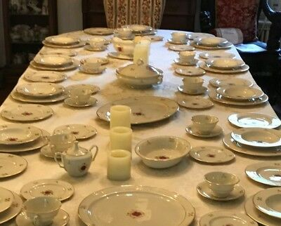 Lenox Rhodora P471: 6 Pps For 12 Incl. Rare Soup Bowls And Accessories