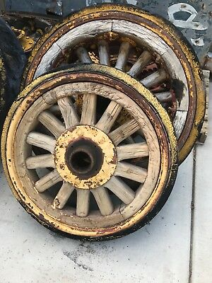 antique wooden and steel rims denver fire co 1890 1924 time frame. collectible
