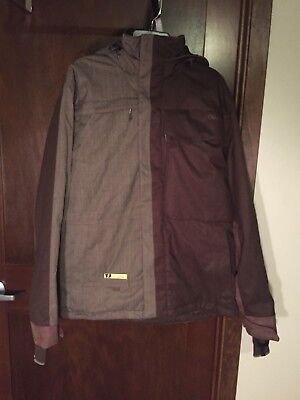 b6b6b6c7d6f6d ORAGE GALLERY TJ Schiller Men s Snowboard   Ski Brown Hooded Jacket Size L  EUC