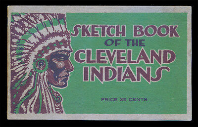 1918 Cleveland Indians Sketch Book Extremely Rare. Incredible Condition