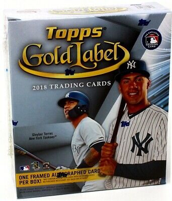 2018 Topps Gold Label Baseball Hobby 16 Box Case Blowout Cards