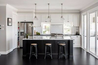 *7 Ft Black Kitchen Island With White Quartz Counter Top. Custom Made/color*