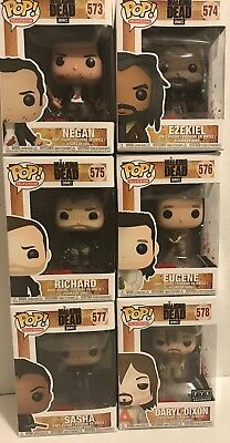 The Walking Dead Funko Pop Figures Lot Of 6 Edition 9 Exclusive Fye Daryl Dixon