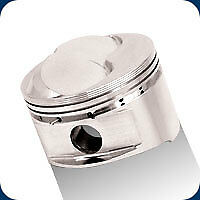 301479 Je 23° 400 Fsr Hollow Dome Pistons Gp 409 Sb Chevy 4.165 Bore 14.3:1 Comp