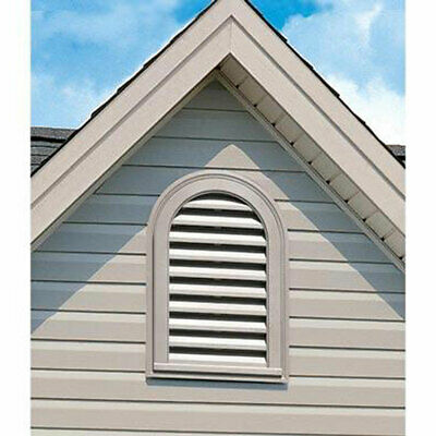 """00441422: 14""""w X 22""""h Cathedral Gable Vent Louver, 50 Sq. Inch Vent Area"""