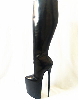 11.81in high height sexy boots stiletto heel sm shoes knee high boots heels