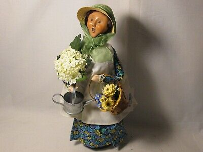 Byers Choice Retired 2003 Yankee Candle Pansy Gardener Woman