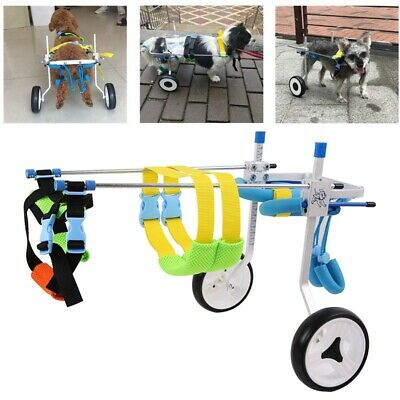 Pet Dog Wheelchair Aluminum Walking Cart Scooter For Handicapped Pups Dogs Hot