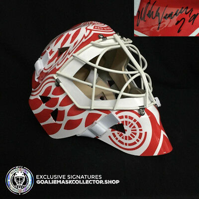 Mike Vernon Signed Autographed Goalie Mask Detroit Red Wings Ice Ready Coa