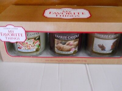 New Yankee Candle Boxed Set Of 3 7 Oz Jar Candles My Favorite Things Vhtf
