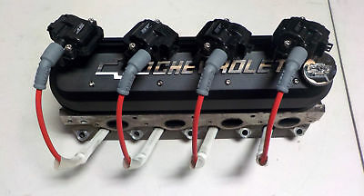 Proform 141-262 Black Tall Valve Covers  Ls1 W/ Coil Brackets & Msd 8.5mm Wires