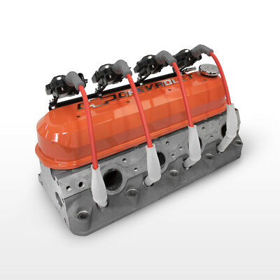 Proform 141-261 Orange Tall Valve Covers  Ls1 W/ Coil Brackets & Msd 8.5mm Wires