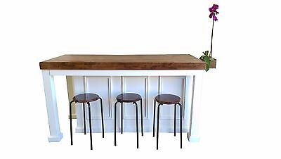 **6 Ft Kitchen Island, Wood Top With Vase And Custom Color Welcome**