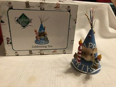 "Charming Tails ""celebrating You"" Dean Griff Nib Plays Happy Birthday"