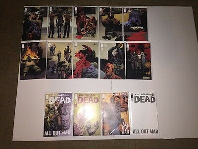 The Walking Dead 115 Lot Nm/raw Condition *all Out War* Connecting Cover