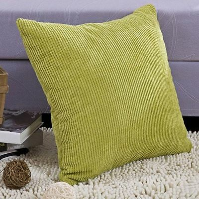 Corduroy Corn Kernels Square Color Sofa Throw Pillow Cushion Cover Pillow Case