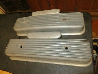 Vintage Holmes / Moon 303 Oldsmobile Aluminum Valve Covers & Cragar Gt Breathers