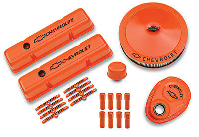 Proform 141780 Orange Deluxe Dress-up Kit For Chevy Small Block Engines