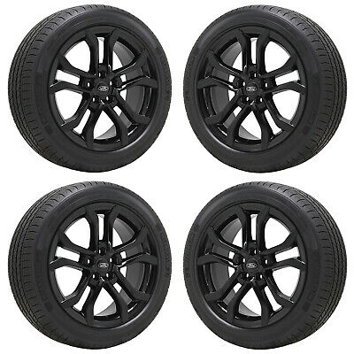 """18"""" Ford Fusion Lincoln Mkz Gloss Black Wheels Rims Tires Factory Oem Set 10120"""