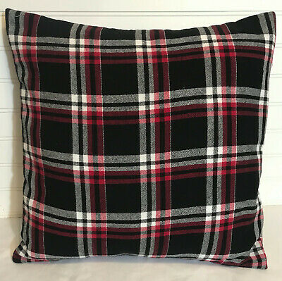 "Black And Red Plaid/16"" X 16"" Or 18""x18""/ Flannel Pillow Cover/christmas"